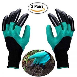 Opard Gants de jardin 2-pack étanche Gants de jardinage avec ABS-plastique griffes pour Jardin et Maison Outil Gants, propagation sols, ratissage, DE ROSE d'élagage (2-Pack gratuit Taille) de la marque Opard image 0 produit