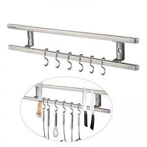 OUNONA Barre Magnétique Porte Cuteau Magnétique Barre Aimantée Pour Outils Cuisine Rail Magnétique Avec 6 Crochets Amovibles de la marque OUNONA image 0 produit