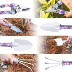 Outils de Jardinage 5 PCS WOLFWILL Avec Transplantoirs Ciseaux Herse Anti-rouille Pulvérisateur Et Boîte (Violet) de la marque Wolfwill image 4 produit