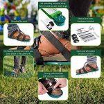 Pawaca Aérateur de gazon, Chaussures, 1paire taille universelle pelouse aérer Spike Chaussures avec 6sangles et boucles en métal robuste pour aérer votre jardin pelouse ou cour de la marque Pawaca image 2 produit