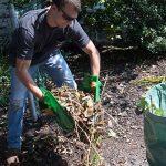 Pelle ramasse-feuilles à dents de Mixitude dotée d'un coussinet de protection au poignet et d'un sac à déchets végétaux d'une contenance de 72 gallons de la marque Mixtitude image 4 produit