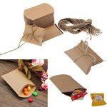 Pixnor 50pcs Kraft boîtes Vintage brun boîtes à bonbons minable boîte faveur de mariage de la marque Pixnor image 1 produit