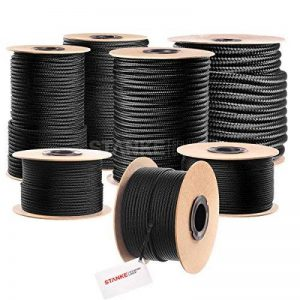 Polypropylène Tressé Corde 50m/8mm–Noir. de la marque Seilwerk STANKE image 0 produit
