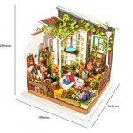 ROLIFE Maison De Poupée Kits De Cuisine Miniatures Avec Lumière Mini-maison En Bois De Bricolage Modèle-meilleurs Cadeaux Pour Adultes-enfants 14 15 16 17 18 Ans Vieux Jusqu'à de la marque Ruober image 4 produit