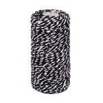 ROSENICE Cordon Coton Cordon Torsadé Bobine Coton Ficelle pour Bouteille en verre Gift Box Decor Craft 100M (Noir Blanc) de la marque ROSENICE image 3 produit