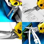 S&R CISEAUX COUPE TOUT 200 mm Ciseaux Bricolage Multimatériel pour GAUCHERS et DROITIERS - Acier inoxydable - Tension réglable - Levier pour mains petites et grandes. Garantie 1 an de la marque S&R image 2 produit