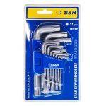 S&R Clefs Torx - Jeu 15 Clés Torx à étoile Extra Résistantes TX6 – TX60, avec support de rangement . de la marque S&R image 4 produit