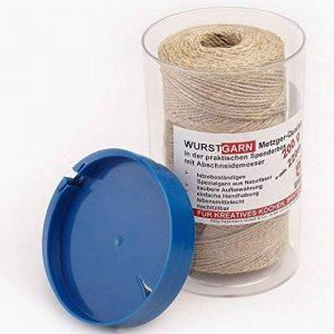 Saucisse fil 200g/220M de fil de cuisine Cuisine fil rouge/blanc dans une boîte distributrice avec coupe-fil Cordon Boîte naturel de la marque Rotix image 0 produit