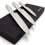 Set de couteaux en acier inoxydable 3pièces Couteaux de cuisine très tranchants de la marque 1aTTack.de image 4 produit