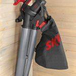 Skil 0792AA Aspirateur Souffleur et Broyeur de Feuilles avec Roulettes pivotantes (2800W, Bretelle, Sac de récupération, Easy Storage) de la marque SKIL image 6 produit