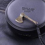 Skyrim Bracelet tendance motif hache, nœud Kont celtique et Viking (doré antique, ficelle cordon élastique) de la marque Skyrim image 1 produit