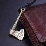 Skyrim Bracelet tendance motif hache, nœud Kont celtique et Viking (doré antique, ficelle cordon élastique) de la marque Skyrim image 2 produit