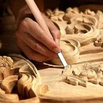SROL-Outils de Sculpture sur Bois, 12 PCS Professionnel Sculpture sur Bois Avec sac de Rent, Bois Sculpté à la Main Ciseaux Kit de Couteau pour Bricolage Artisanat Argile Menuiserie Débutant et Expert avec Cadeau de la marque SROL image 2 produit