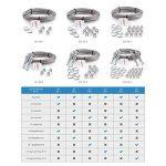 Stanke Corde Câble métallique galvanisé Câble en acier de 3 mm 6 x 7, 4 tendeurs M5 Crochet + anneau, 16 cosses, 16 pinces de serrage - Kit 6 de la marque Seilwerk STANKE image 4 produit