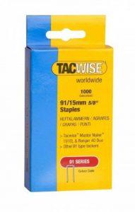 Tacwise 0283 Boîte de 1000 Agrafes à couronne étroite 15 mm Type 91 de la marque Tacwise image 0 produit
