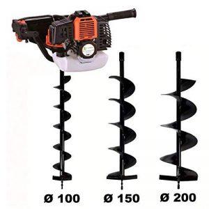 Tarière thermique 52 cm3 - 3 CV + lot de 3 mèches (100, 150 et 200 mm) de la marque GT Garden image 0 produit
