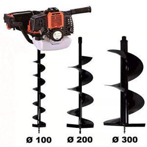 Tarière thermique 52 cm3 - 3 CV + lot de 3 mèches (100, 200 et 300 mm) de la marque GT Garden image 0 produit