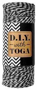 Toga D.I.Y with RUY007 Bobine Ficelle baker's twine Noir 1000 x 0,1 x 0,1 cm de la marque Toga image 0 produit