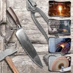 ttmow Couteau de cuisine Couteau professionnel Classic 20cm 7Cr17MoV acier au carbone, épaisseur 2mm mais Super puissant, longue Anhalt fin netteté avec motif unique et manche en bois coloré, Belle et longue durée de la marque TTMOW image 2 produit