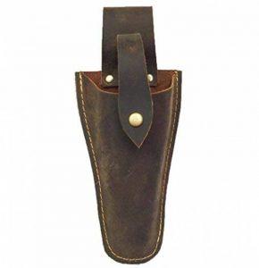 Étui de ceinture en cuir pour pince, sécateur, ciseaux ou couteau de jardin (HSZ-20), bronze de la marque HENSE image 0 produit