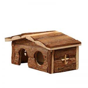 UEETEK Hamster Hachette en bois naturel avec écorce pour cochon d'inde Hamster de la marque UEETEK image 0 produit