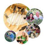 Uniquq 6 pcs/lot Outil de jardinage Pelle Truelle de Cultivateur Feuille Tondeuse Râteau Jardin Féérique miniature plantation Transplanters kit d'outil à main de la marque uniquQ image 4 produit