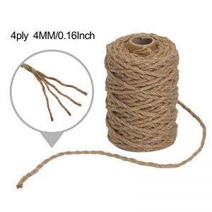 Vivifying 98 Pieds 4 mm 4 plis Ficelle de jute, Naturel biodégradable solide Corde de jute pour jardin, cadeaux, travaux manuels (Marron) de la marque Vivifying image 0 produit