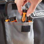 VonHaus Sac Porte Outils Très Résistant avec Poches Extérieures et Intérieures + Sangle d'Épaule – Capacité 10 kg - 39 x 20 x 26 cm Gris/Noir de la marque VonHaus image 3 produit