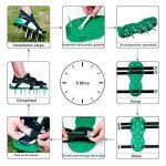 WARKHOME Chaussures aératrices de pelouse à crampon – pour aérer efficacement la pelouse – livrées avec 3 sangles réglables avec boucles métallique – taille universelle qui convient à tous de la marque WARKHOME image 3 produit