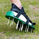 WARKHOME Chaussures aératrices de pelouse à crampon – pour aérer efficacement la pelouse – livrées avec 3 sangles réglables avec boucles métallique – taille universelle qui convient à tous de la marque WARKHOME image 1 produit