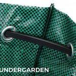 Wundergarden© - Grands sacs à déchets de jardinage XL par lot de 3 en tissu PP solide pour jusqu'à 270 litres de déchets de jardin, de feuilles, d'herbe, de plantes, de compost - format rond, tient debout et peut être plié -sacs à feuille, sac de jardin d image 1 produit