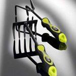 Xclou Râteau à main jaune et noir - Râteau à fleurs avec manche ergonomique - Petit râteau de jardin à 5 dents - Outil de jardinage multifonctions de la marque Xclou image 2 produit