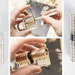 Yoopik Kit de Crochetage Lockpicking Complet de 15 Pièces avec 2 Serrures d'entraînement, Etui et guide Ebook de la marque Yoopik image 1 produit