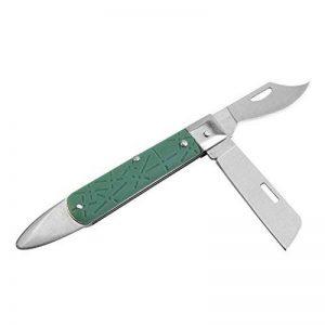 Yosoo Couteau de Greffage Dague à Branche Bois Tondeuse à main Couteau de pépinière Jardin à Greffer les Arbre des Fruits Kit d'Outil Professionnel en Acier Inox de la marque Yosoo image 0 produit